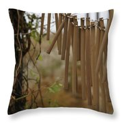 Wind Song - 3 Throw Pillow by Linda Shafer