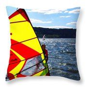 Wind Surfer II Throw Pillow