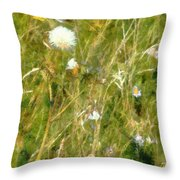 Wind Through The Meadow Throw Pillow