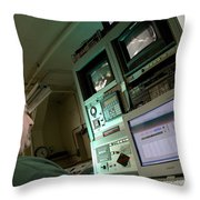 Wind Tunnel Control Room Throw Pillow