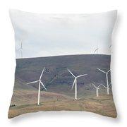 Wind Turbine Power Farm Throw Pillow