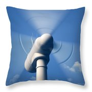 Wind Turbine Rotating Close-up Throw Pillow