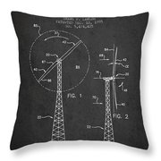 Wind Turbine Rotor Blade Patent From 1995 - Dark Throw Pillow