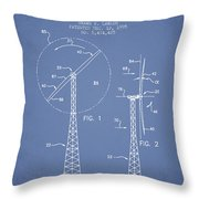 Wind Turbine Rotor Blade Patent From 1995 - Light Blue Throw Pillow