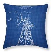 Wind Turbine Speed Control Patent From 1994 - Blueprint Throw Pillow