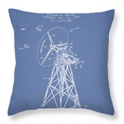 Wind Turbine Speed Control Patent From 1994 - Light Blue Throw Pillow