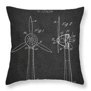 Wind Turbines Patent From 1984 - Dark Throw Pillow