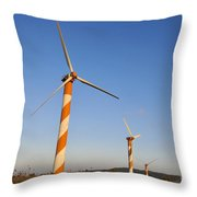 Wind Turbines  Throw Pillow by Shay Levy