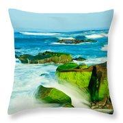 Windansea Beach 4 Throw Pillow
