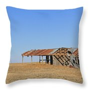 Windblown Barn Throw Pillow