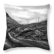 Winding Road In Glen Etive Throw Pillow by John Farnan