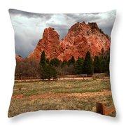 Winding Through The Garden Of The Gods Throw Pillow