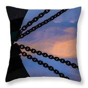 Windjammer Schooner Appledore Bobstays In Abstract Throw Pillow
