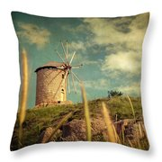 Windmill 14 48 Throw Pillow by Taylan Apukovska
