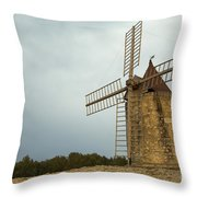 Windmill, France Throw Pillow