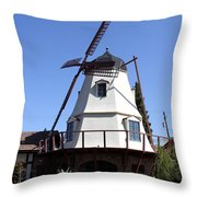 Windmill In Solvang Throw Pillow