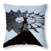 Windmill In The Clouds Throw Pillow