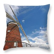 Windmill In The Sky Throw Pillow