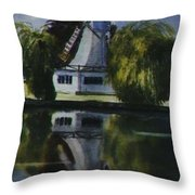 Windmill In The Willows Throw Pillow