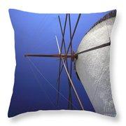 Windmill Masts Throw Pillow