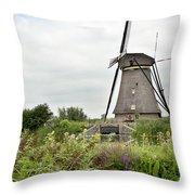 Windmill Of Kinderdijk Throw Pillow