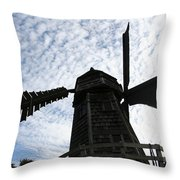 Windmill On A Cloudy Day Throw Pillow
