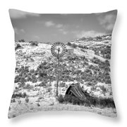 Windmill On A Hill Throw Pillow