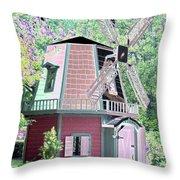 Windmill - Photopower 1555 Throw Pillow