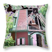 Windmill - Photopower 1556 Throw Pillow