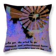 Windmill With Lincoln Quote Throw Pillow