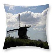 Windmills Silhouette Throw Pillow