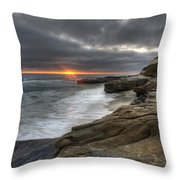 Windnsea Fence Throw Pillow