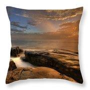Windnsea Gold Throw Pillow