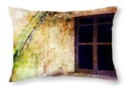 Window - Water Color - Fort Throw Pillow