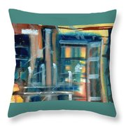 Window Abstract Throw Pillow