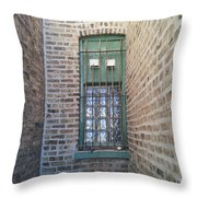 Window Against The Wall Throw Pillow