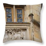Window And Relief Palace Ducal Throw Pillow