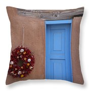 Window And Ristra Throw Pillow