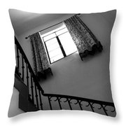 Window And Stairs Throw Pillow
