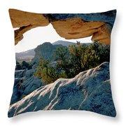 Window Arch City Of Rocks Idaho Throw Pillow