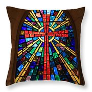Window At The Little Church In La Villita Throw Pillow