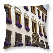 Window Boxes In Germany Throw Pillow