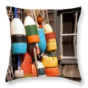 Rockport Buoy View Throw Pillow