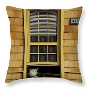 Window Cat    No.1 Throw Pillow