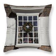 Window Decorations In Williamsburg Throw Pillow