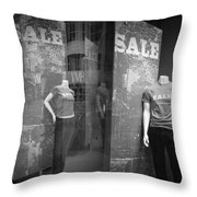 Window Display Sale With Mannequins No.1292 Throw Pillow