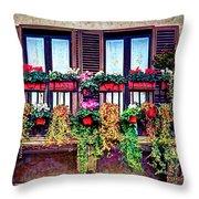 Window Flower Throw Pillow