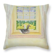 Window Geese Throw Pillow