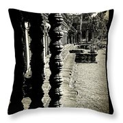 Window In Angkor Wat Throw Pillow