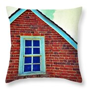 Window In Brick House Throw Pillow